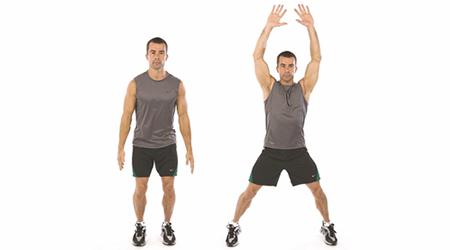 Подскок с разтваряне на ръцете и краката (Джъмпинг джак)