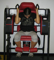 Уреди натоварващи коремната мускулатура с фронтално двустранно извиване на гръбнака
